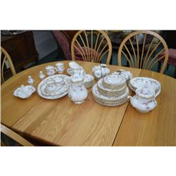 """Selection of Royal Albert """"Dimity Rose"""" china including eight each of dinner, luncheon and bread pla"""