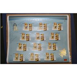 Three uncut collector stamp sheet from Canada Post including 2004 Year of the Monkey, Year of the ho