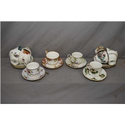 Twelve collectible tea cups and saucers including Hammersley, Paragon, Aynsley, Royal Albert, Royal