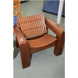 Artisan made ergonomic Peruvian Ancash armchair distributed by Artesano Don Bosco US, retail $1,500