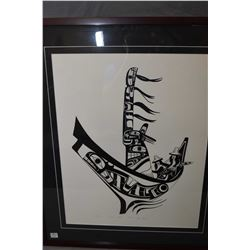 """Framed limited edition print titled """"Killer Whale"""" pencil signed by artist Ben Houstie, 98/225"""
