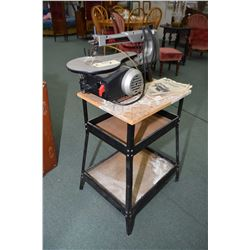 """Skil 16"""" scroll saw on a floor stand"""