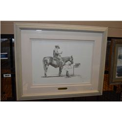 """Framed limited edition print """"Gettin' Word"""" signed by artist D. Groot, 98/250"""