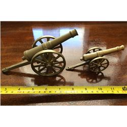 GR OF 2, BRASS MINIATURE CANNONS