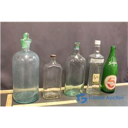 (5) Vintage Glass Bottles