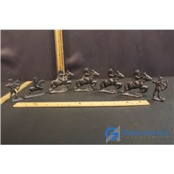 ( 7) Cast Metal Decorative Figures