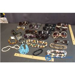 Lot of Sunglasses and Costume Jewelry