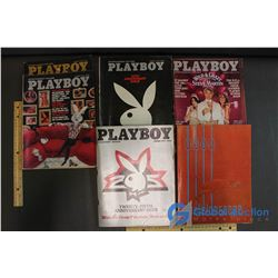 1974-80 Playboy Anaversary and Collectors Editions Magazines, and 1964 Kaleidoscope