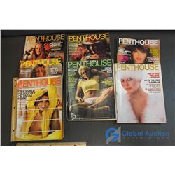 1970, 72-75, 79, 80 Penthouse December Magazines