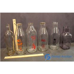 Milk Bottles - Union Milk, Purity, Alpha Milk, Star Dairy, and Other Bottles