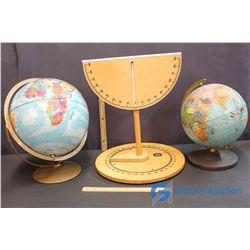 (2) Globes and School Teaching Tool