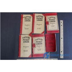 (5) Farmers Pocket Ledgers, and Elevator Book