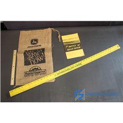 John Deere Potato Sack, John Deere Meter Stick, and the Battle at Belly River Book