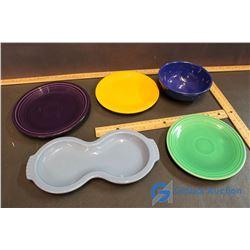 Vintage Fiesta Dishes - 5 Pieces