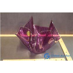 Glass Handkerchief Bowl