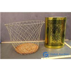 Wire Waste Papper Basket and Metal Waste Basket
