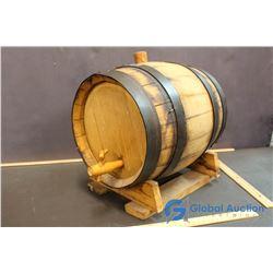Vintage 3 Gallon Oak Whiskey Barrel w/ Spigot