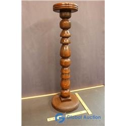 """Turned Wooden Plant Stand 31""""Tall"""