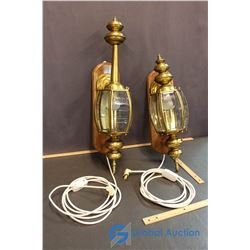 Pair of Wall Hanging Lamps