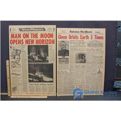 """Man on the Moon"" Star Phoenix - ""Glen Orbits Earth 3 Times"" Mounted"
