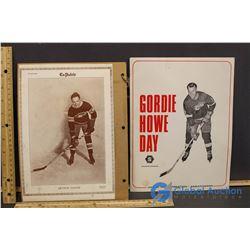 Gordie Howe Day Souvenir Program, Picture of Sylvio Mantha, Arthur Gagne