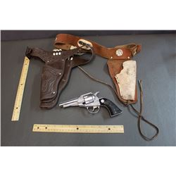 Remington Cap Gun w/ Belt & Holster and Leather Belt and Holster