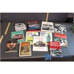 War Related Books - Assassination of R.F.K, Russian Infantry Weapons, Victory, etc.