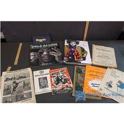 Sheet Music, Vocal Scores, and Jimi Hendrix Books, etc.