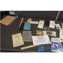 Vintage Paper Misc - Post Cards, Shirley Temple's Stories, Mathamatic Book, etc.