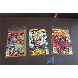 Sonic the Hedghog, Superman, Spiderman Comics