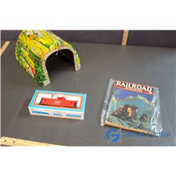 Tin Train Tunnel, NIB CN Caboose Model Power, and Railroad Magazine
