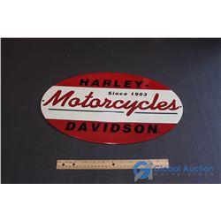 Embossed Harley Davidson Motorcycles Tin Sign