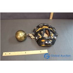 Brass Baseball and Baseball Mask