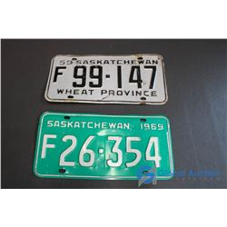 1959, 1969 Saskatchewan License Plates