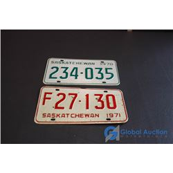 1970, 1971 Saskatchewan License Plates
