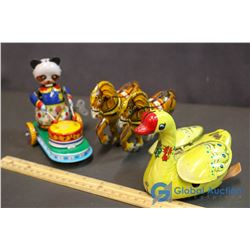 (3) Tin Toys 2 Key Winds