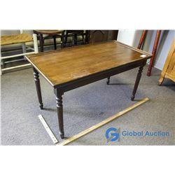 Walnut Coffee / Side Table w/ Pillared Legs