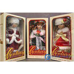 Century Collection Genuine Porcelain Dolls (3)
