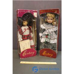 Century Collection Genuine Porcelain Dolls (2)