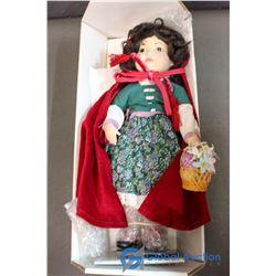 "Franklin Heirloom Dolls - Red Riding Hood 12"" Doll"