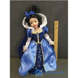 Porcelain Doll in Blue Ball Gown (16'')