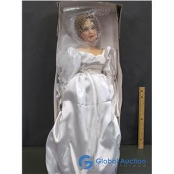 "Porcelain Doll in Wedding Gown (26"")"