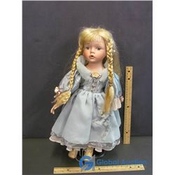 Porcelain Doll on Stand