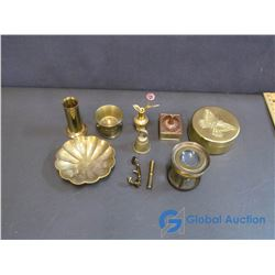 Assorted Small Brass Decor Items