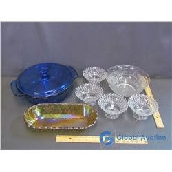 Assorted Glassware - Anchor Casserole Dish, Serving Bowl, Serving Dish, etc