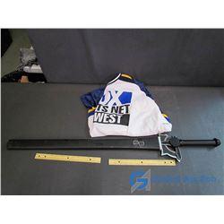 Fox Hockey Jersey & Decorative Sword & Scabard