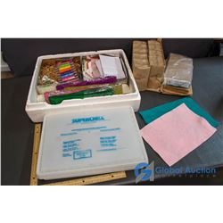 Craft Suplies and Garage Sale Pricing Stickers - Paper Bags, String, Felt, Elastics, etc.