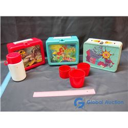 (3) Lunch Boxes Some w/ Thermoses - Jurassic Park, Canada, Little Mermaid()