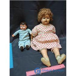 (2) 1930's Composition Dolls