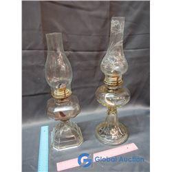 (2) #2 Coal - Oil Lamps